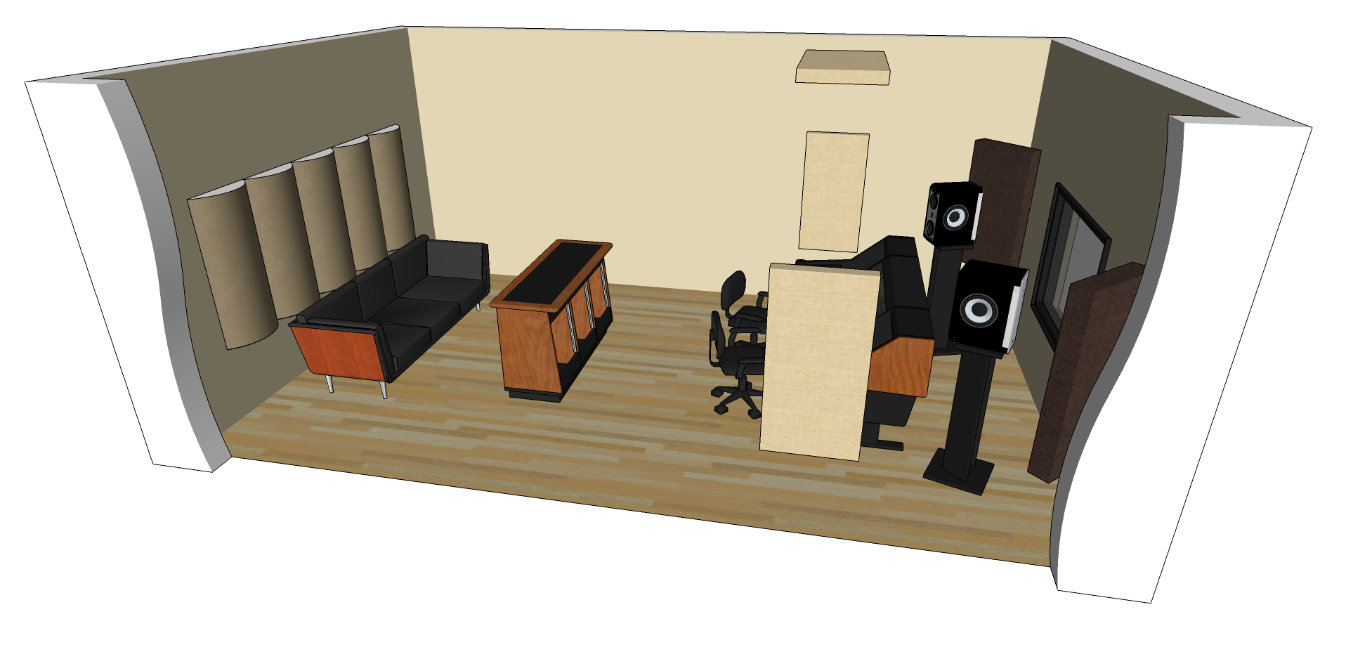 diffusion studio acoustics bass trap